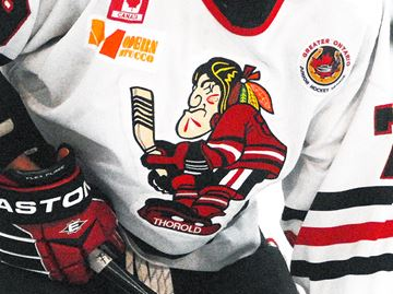 Thorold Blackhawks logo