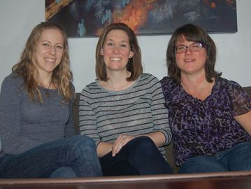 Francine Colbourne, Julie Moon, and Monica Webber Mayeda are three team members of the Findlay Creek Fantastics who are putting on a holiday market on Dec. 15, all in the name of raising funds for Bust a Move Ottawa's breast cancer event.