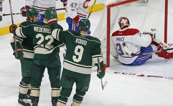 Wild ties most lopsided home victory in team history with 7-1 thrashing of Canadiens