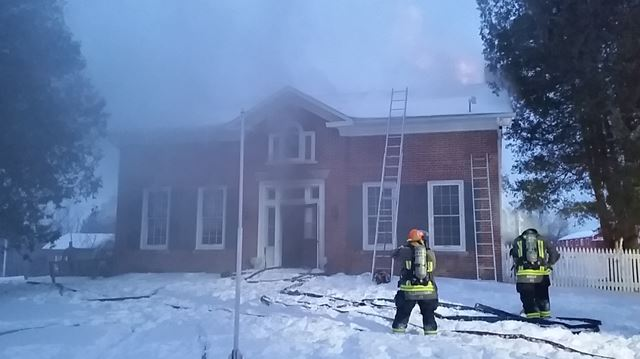 Century farmhouse destroyed in early morning blaze