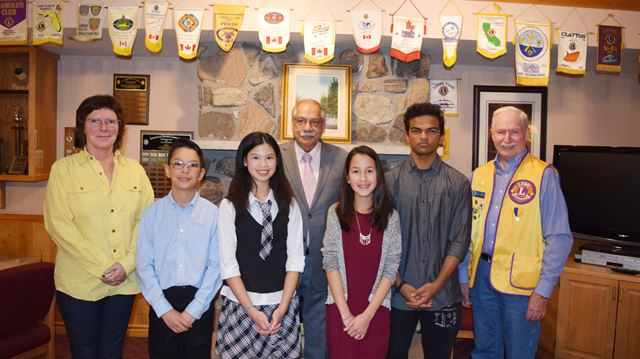 Variety of topics in Stittsville Lions youth public speaking competition