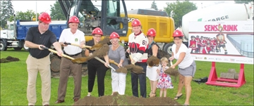 Town marks Gerry Lowe RINK start– Image 1