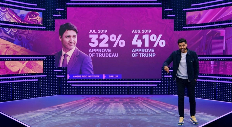 Hasan Minhaj didn't interview Justin Trudeau — he took him to the woodshed
