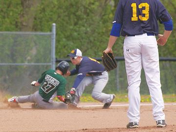 Midland Secondary School Marauders roll past Stayner at Tiffin Park