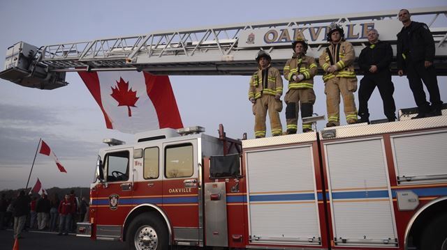 Procession for Cpl. Nathan Cirillo
