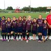 U10 girls walk out with pros