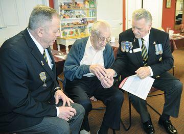 Fred Hardman gets anniversary medal