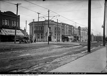 St. Clair Avenue and Dufferin Street -- looking northeast