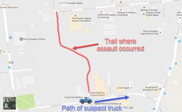 Trail where assault occurred