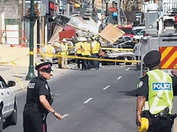 Woman injured in scaffolding collapse at Crosstown LRT station site on Eglinton Avenue intends to sue: lawyers
