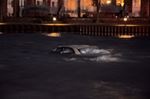 Car submerged in water