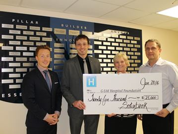 Scotiabank supports Collingwood Hospital with $25,000 donation