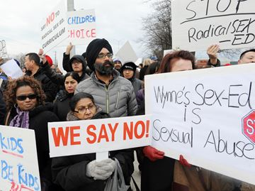 Sex-ed protests
