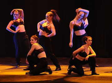 OSHAWA -- The University of Ontario Institute of Technology dance team hosted the 2nd annual Ridgeback dance showcase at the Regent Theatre. The event featured a variety of routines from the 2014 year, as well as alumni and special guests. The evening was filled with exciting dance styles that included ballet, modern, hip hop, and jazz. March 11, 2014.