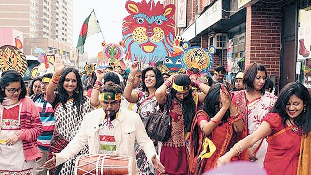 Image result for pohela boishakh crowd