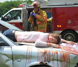 Mock Crash At Crestwood