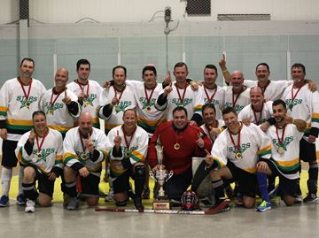 Men's E provincial ball hockey champs