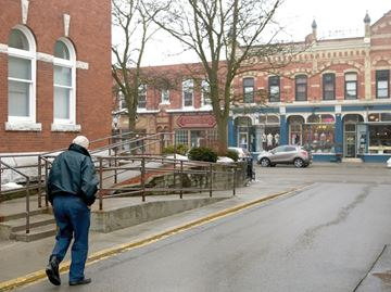 Downtown Port Perry alley