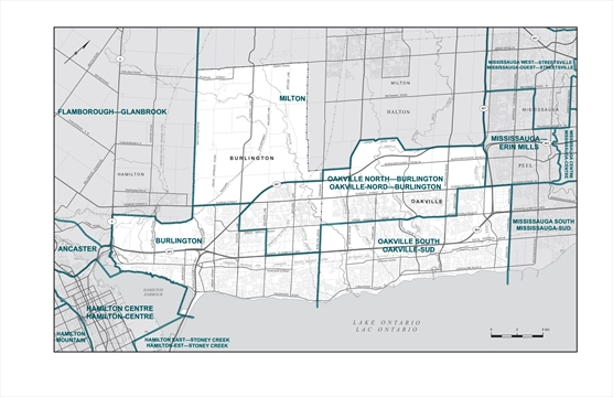 Three federal ridings tabled for Burlington
