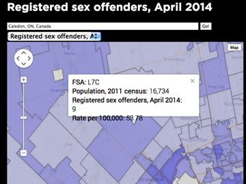 List of sex offenders in my area ontario