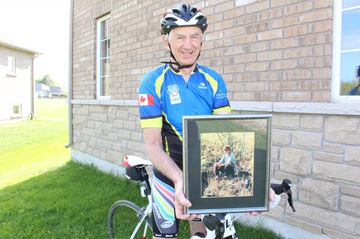 Wasaga man honours friends, family by riding to conquer cancer