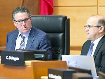 Niagara Regional Chair Alan Caslin, left, and Region CAO Carmen D'Angelo.