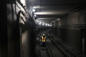 TTC workers repair subway tracks in this 2018 file photo.
