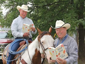 Mayor caught reading at Alliston rodeo