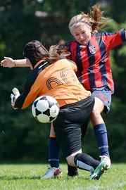 Newmarket soccer action