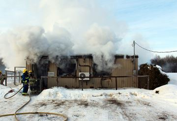 Four dogs died in a fire at Cantope Kennels in Udora Feb. 17. Two dogs were rescued.