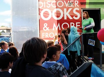 Digital bookmobile visits Cambridge