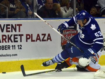 Leafs beat Flyers 3-2 in shootout at Bud Gardens