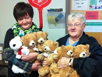 The Connection donates bears to Salvation Army