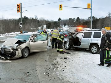 One person taken to hospital after crash in Midland