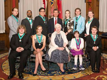 Young volunteers awarded