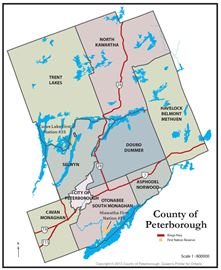 Peterborough County Map