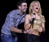 Colombia's singer Shakira with FC Barcelona soccer player Gerard Pique.