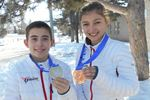 Proud medalists