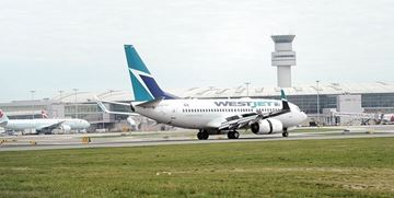 The nose gear of a WestJet aircraft travelling from Calgary to Toronto got stuck in the snow upon landing at Toronto Pearson International Airport Wednesday night.