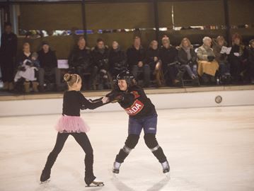 Christmas Collage ice show at Rotary Centennial Pond on Dec. 16