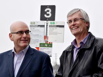 Minister Visits Bradford GO Station