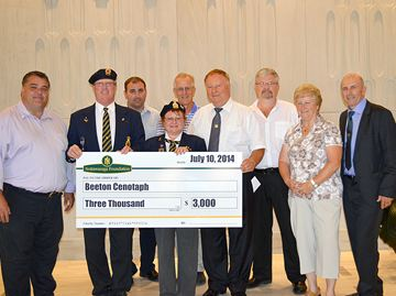 Beeton cenotaph donation