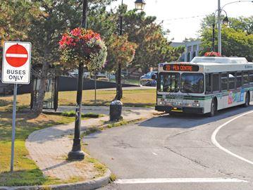 Bus route through Thorold