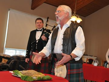 Robbie Burns Day at Port Perry nursing home