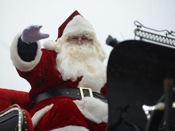 Santa visits Milton