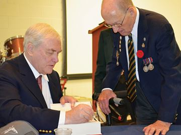 Conrad Black speaks to veterans in Midland