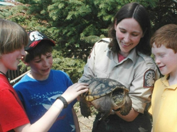 Jody Gienow brings her love of animals to schools across Muskoka.