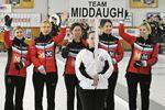 Ontario Scotties Tournament of Hearts opening ceremonies held at Penetanguishene Curling Club