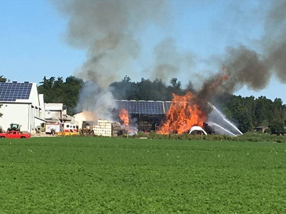 King firefighters battle flames at Rupke Road structure