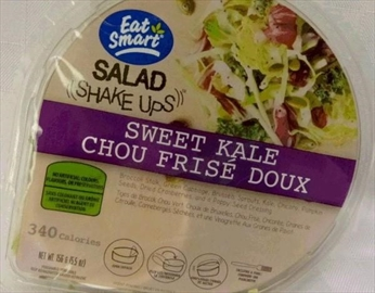 The Canadian Food Inspection Agency says Eat Smart's brand of Salad Shake Ups, as shown in this handout image, have been recalled due to possible Listeria contamination. The agency says the 156-gram packages of Salad Shake Ups Sweet Kale, which have been distributed nationally, should be thrown out or returned to the store where they were purchased. THE CANADIAN PRESS/HO-Canadian Food Inspection *MANDATORY CREDIT *